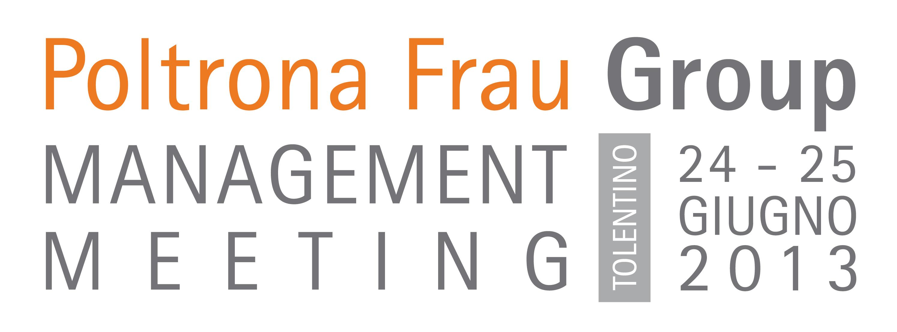 Intranet Poltrona Frau.Management Meeting 2013